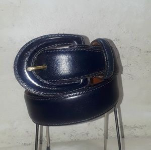 Ladies Coach leather navy belt size large